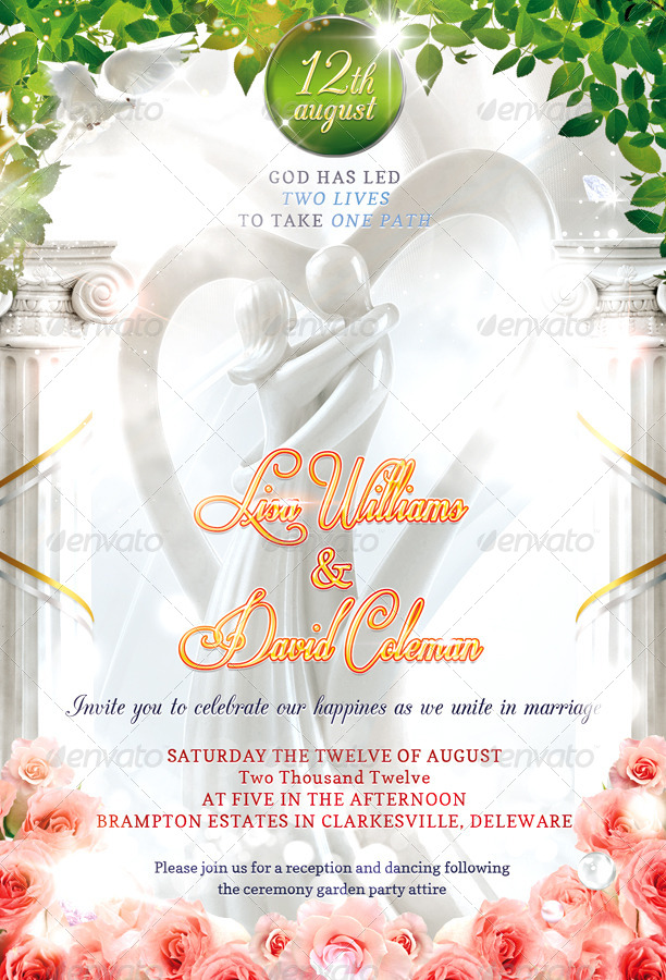 The Best Wedding Invitations For You Christian Invitation Psd
