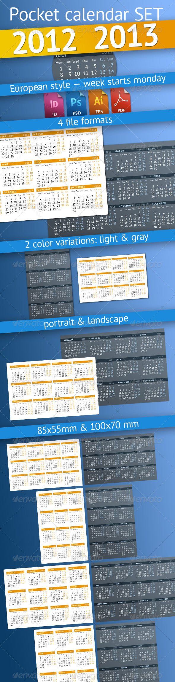 GraphicRiver Pocket calendar SET 2012-2013 2783527