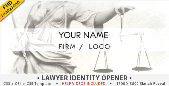 After Effects Project - VideoHive Justice Lawyer Identity Opener 2767000