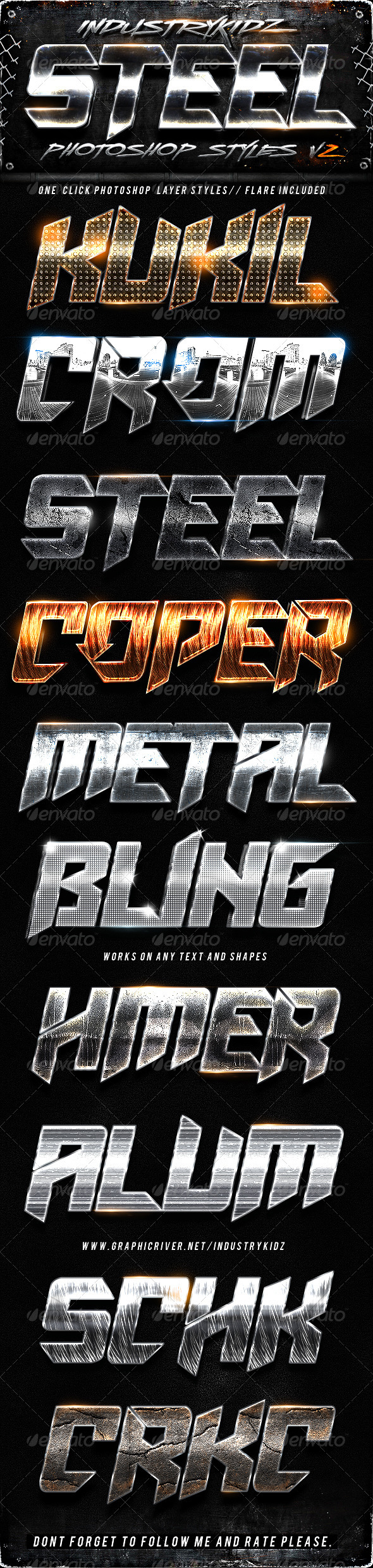 GraphicRiver Metal Steel Photoshop Layers Styles V2 2786817
