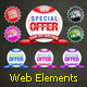 Web Elements: Banners & Buttons layered PSD - GraphicRiver Item for Sale