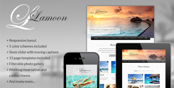 ThemeForest Lamoon Responsive Resort and Hotel Template Site Templates Retail Travel 2791966