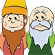 Two Gnomes, a Younger One and an Older One - GraphicRiver Item for Sale