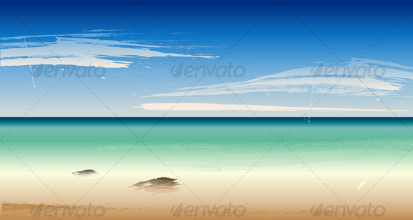 GraphicRiver Vector Summertime at the Beach Sea 100641