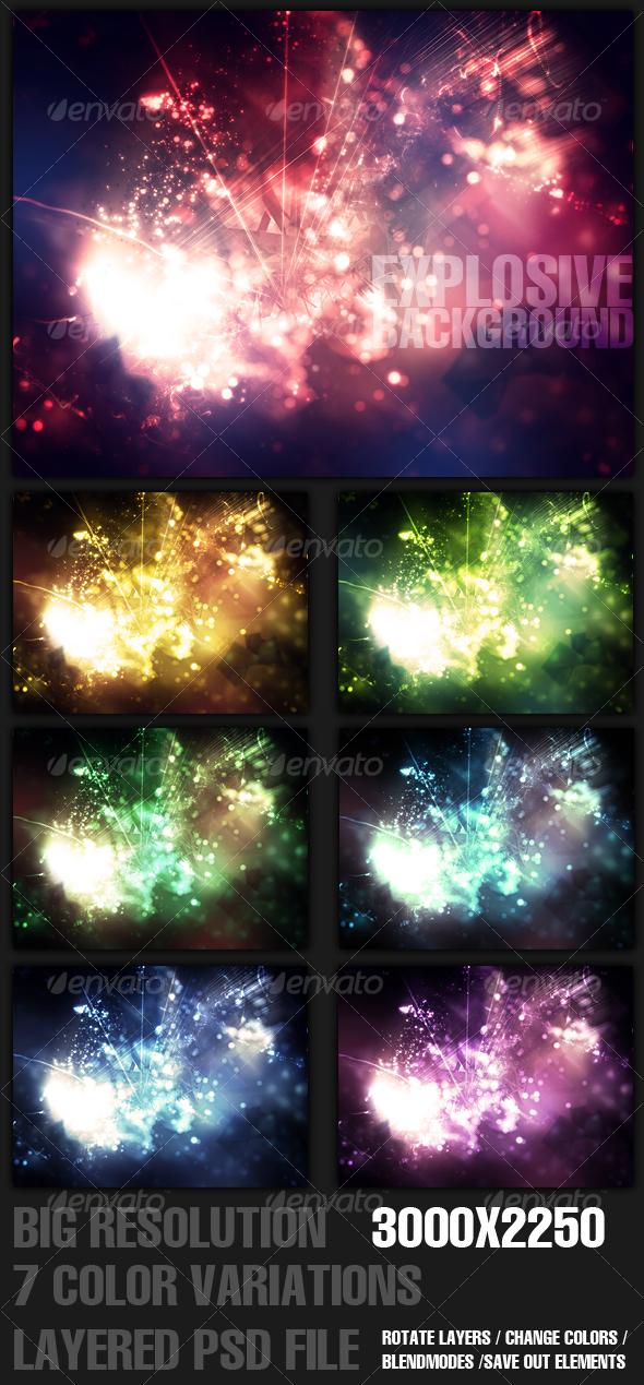GraphicRiver Explosive Background 100648