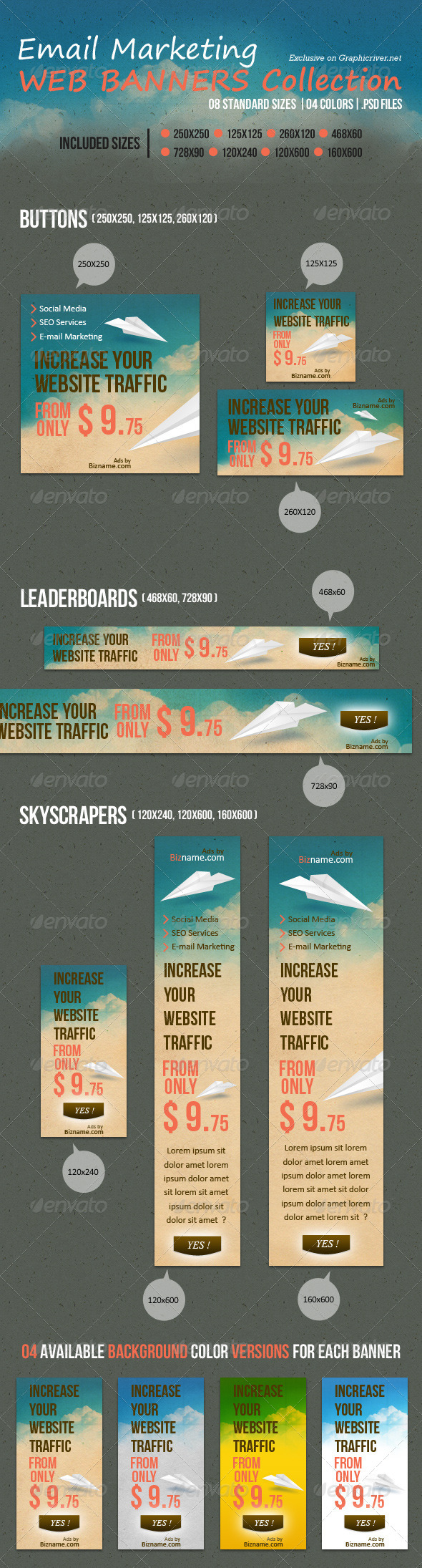 GraphicRiver Email Marketing Web Banners Collection 2792618