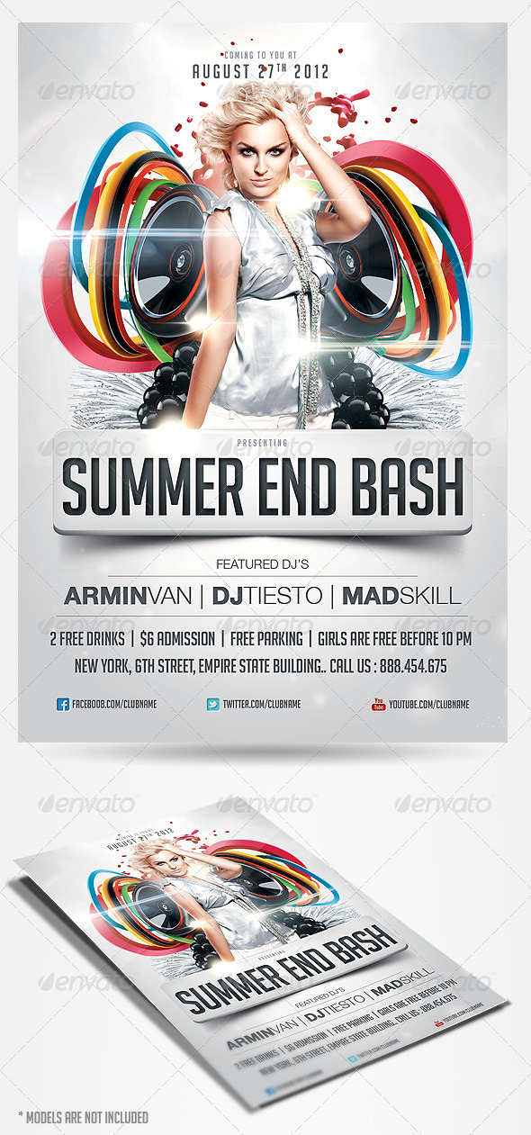 GraphicRiver Summer End Bash Party Flyer 2794933