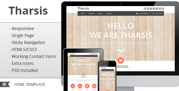 ThemeForest Tharsis Responsive Portfolio Template Site Templates Creative Portfolio 2795942