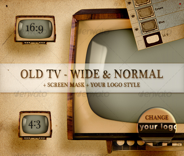 GraphicRiver Old TV Wide & Normal 100778