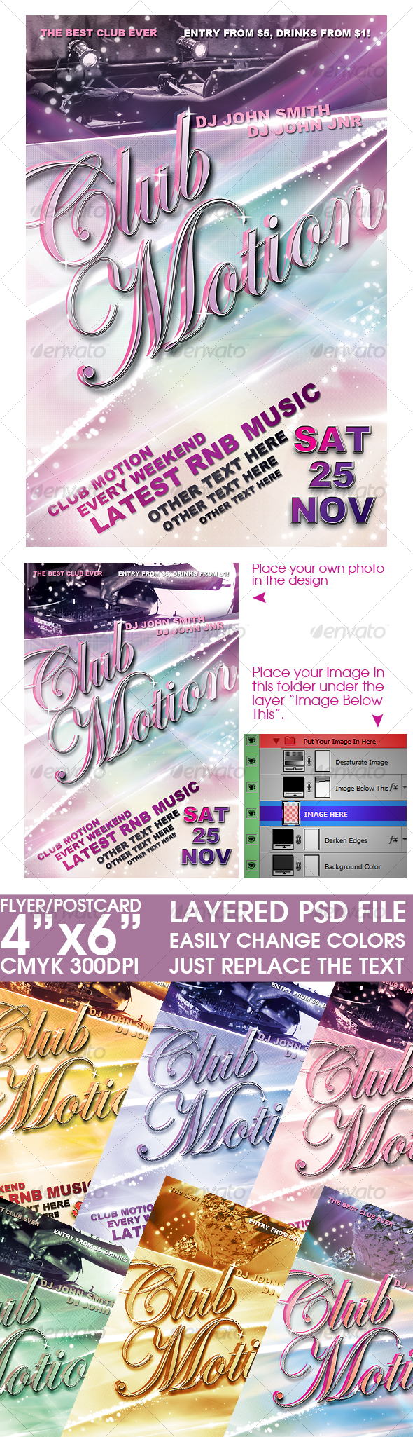 GraphicRiver Flyer Post Card Template 100845