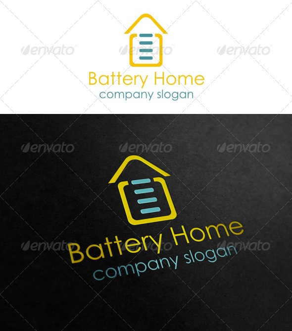 Graphic River Battery Home Logo Templates -  Symbols 921273
