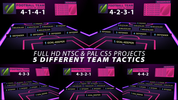 After Effects Project - VideoHive Football Team Tactics 2795537