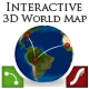 Interactive 3D World Map (Extended Edition) - ActiveDen Item for Sale