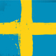 Swedish Flag Daubed With Paint  - GraphicRiver Item for Sale
