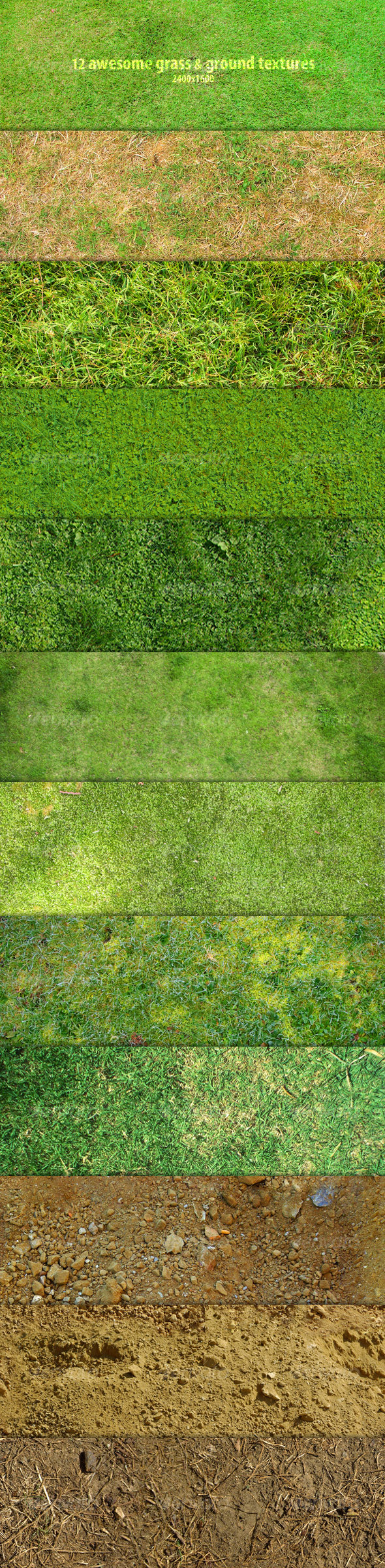 GraphicRiver 12 Awesome grass & ground textures 101020