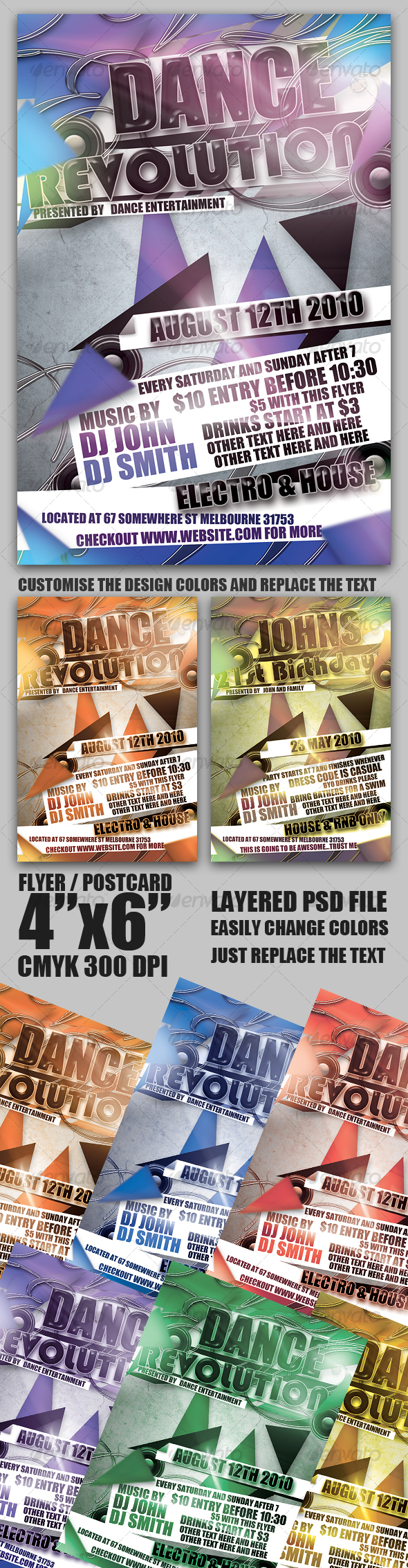 GraphicRiver Flyer Postcard Template 101046