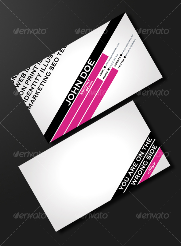 GraphicRiver FASHION & TRENDY BUSINESS CARD 98835