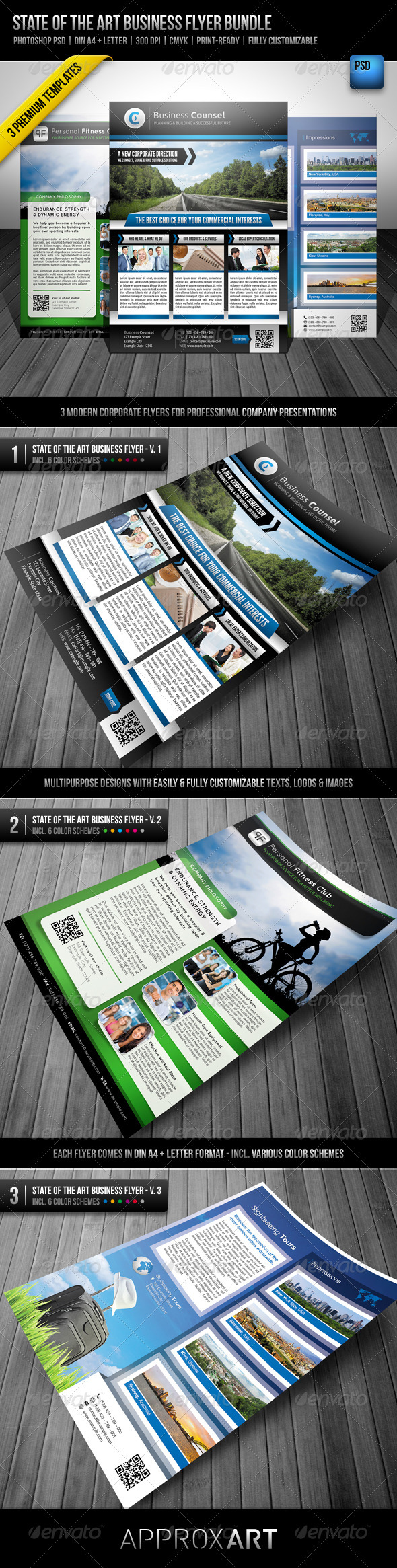 GraphicRiver State of the Art Business Flyer Bundle 2808719