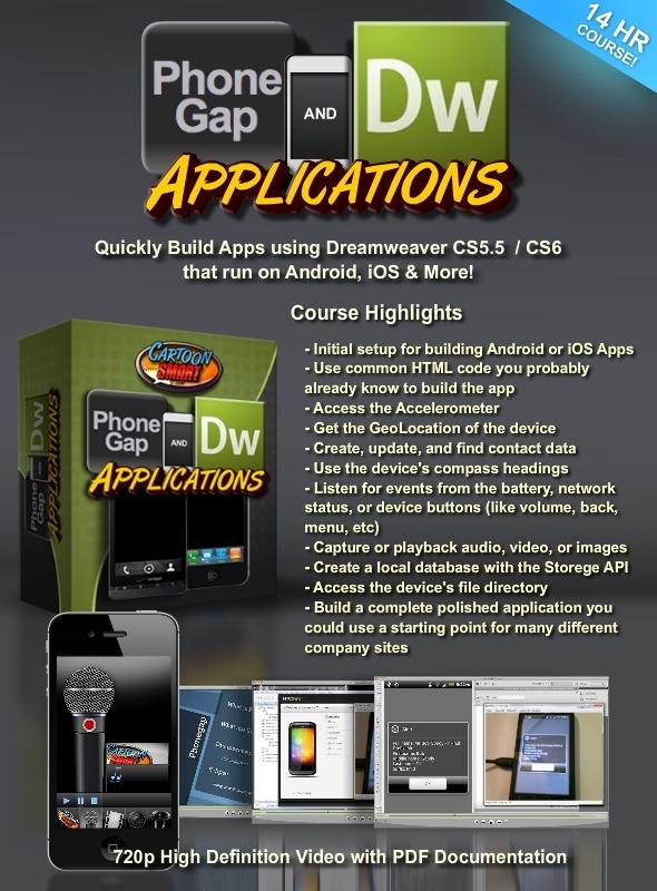 TutsPlus PhoneGap and Dreamweaver CS5.5 CS6 Tutorials 2811002