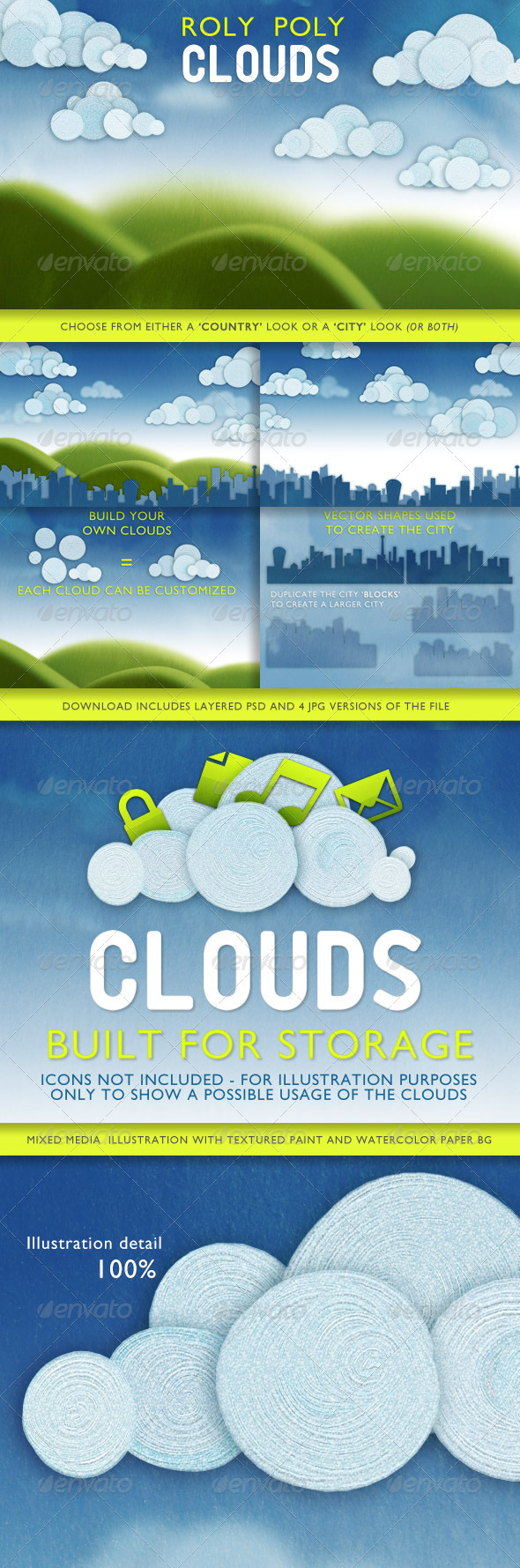 GraphicRiver Roly Poly Clouds 2632673