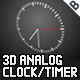 3D Analogue Clock / Timer - ActiveDen Item for Sale