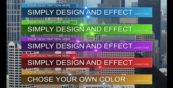 After Effects Project - VideoHive Simple lower thirds Full HD 101352