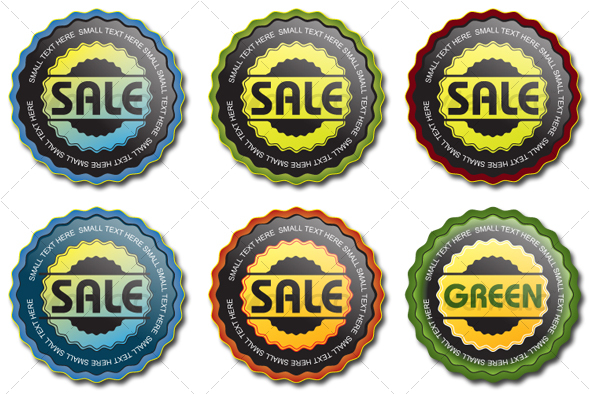 GraphicRiver 6 Vector Seals set 1 101414