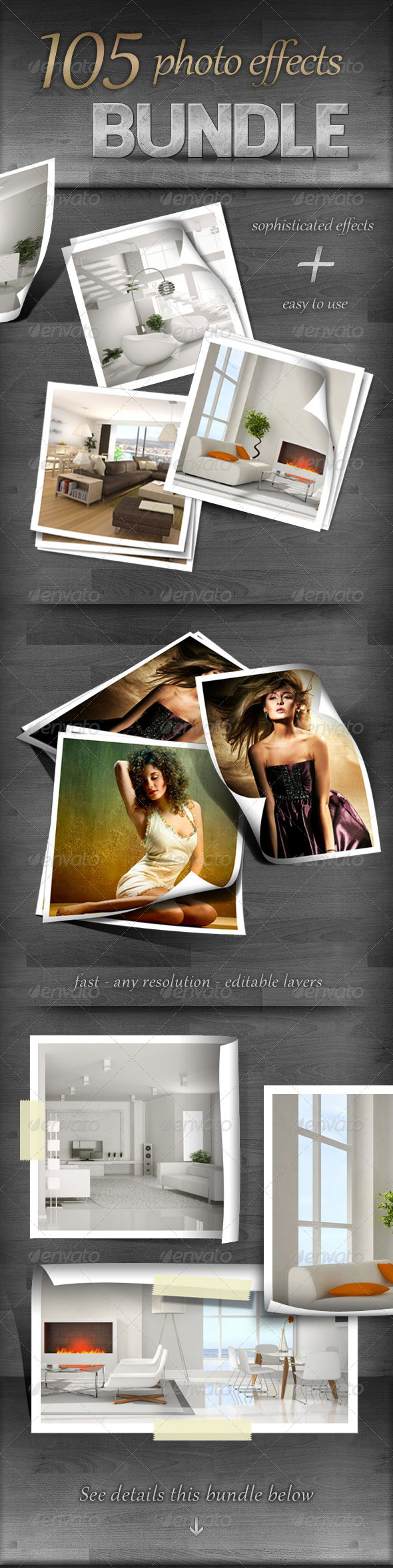 Graphic River 105 Photo Effects Bundle Add-ons -  Photoshop  Actions  Utilities 723542