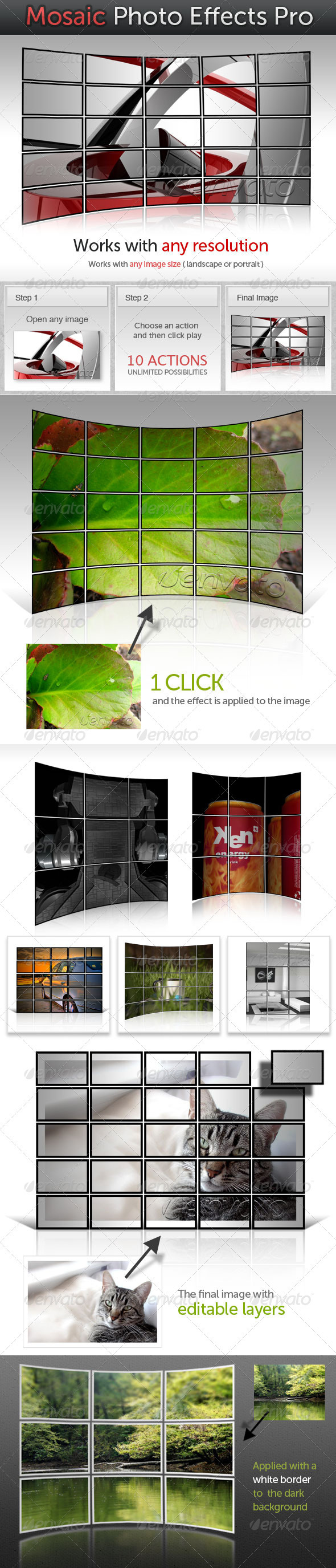 GraphicRiver Mosaic Photo Effects Pro 127392
