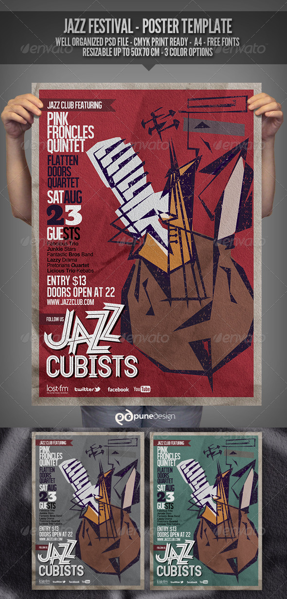 GraphicRiver Jazz Flyer Poster Template 2708846