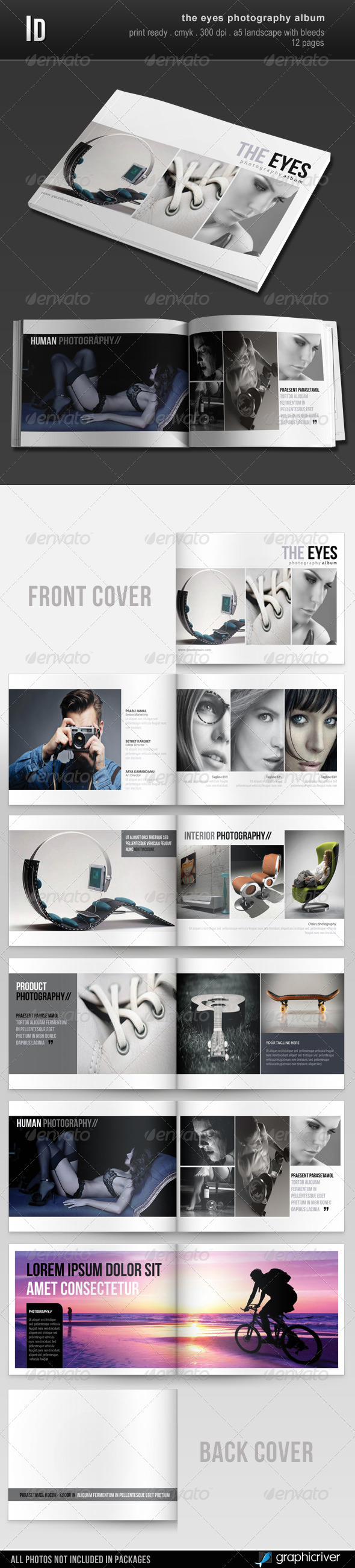 GraphicRiver The Eyes Photography Album 2823264