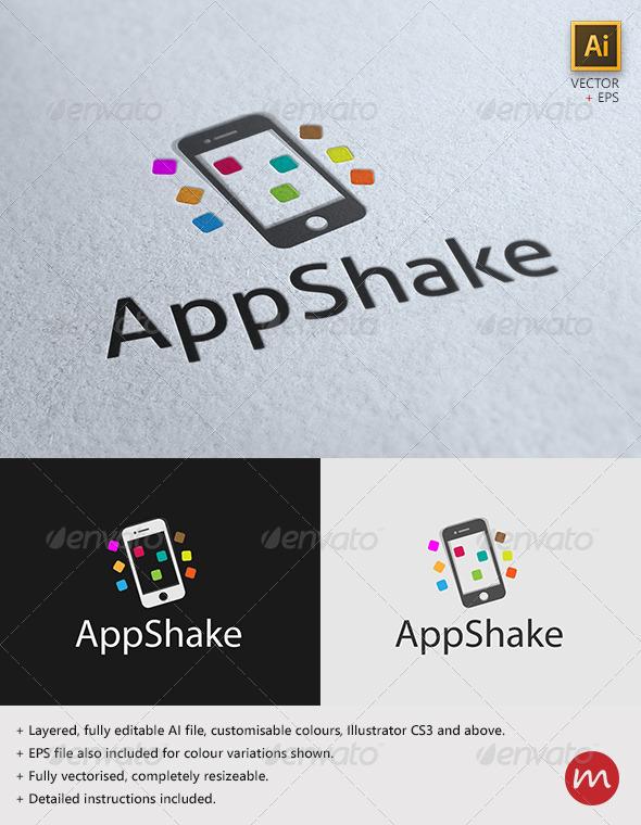 GraphicRiver AppShake Fun Mobile Logo Template 2768944