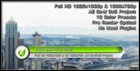 VideoHive Blink Light Lower Third 2826496