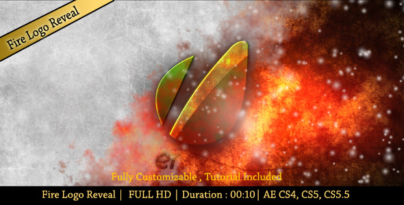After Effects Project - VideoHive Fire Logo Reveal 2826974