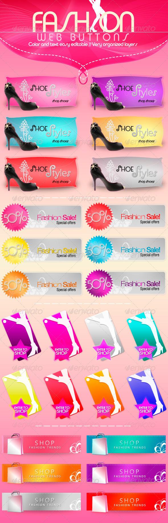 GraphicRiver Fashion Web Buttons 302683