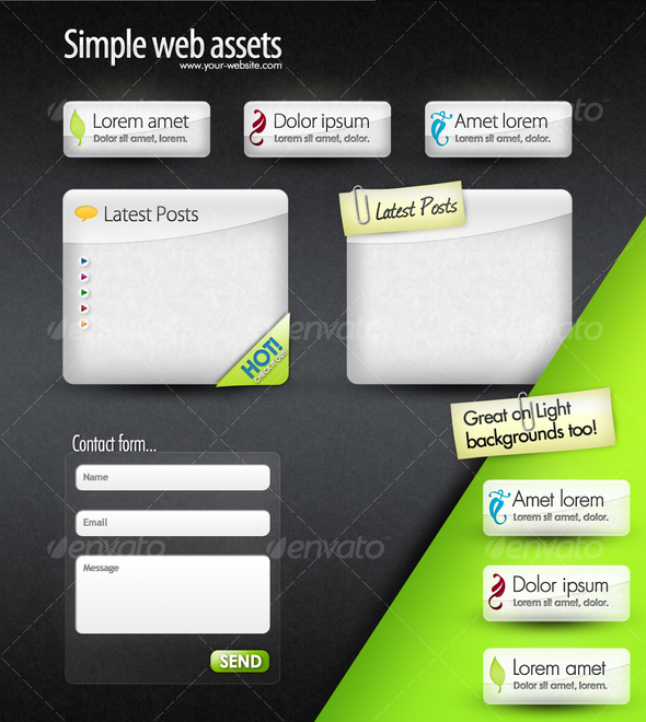 GraphicRiver Web Elements Web Boxes & Web Buttons 101799