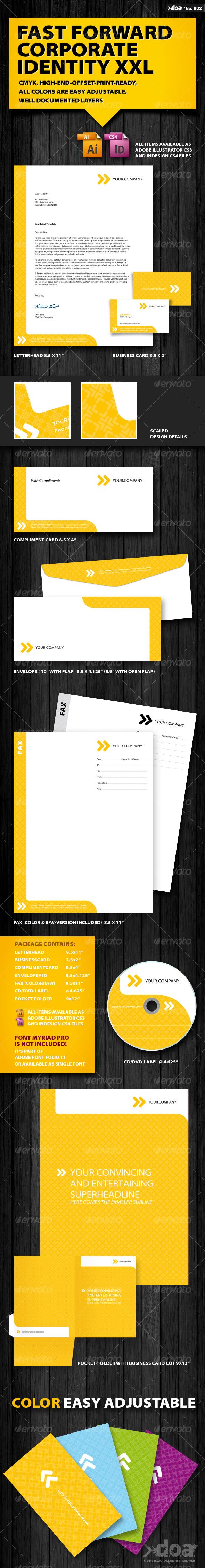GraphicRiver Fast Forward Corporate Identity 101812