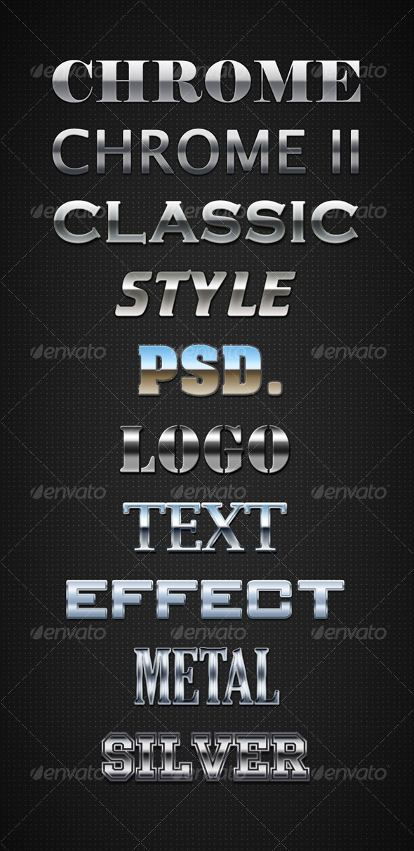 GraphicRiver Chrome Layer Styles 94203