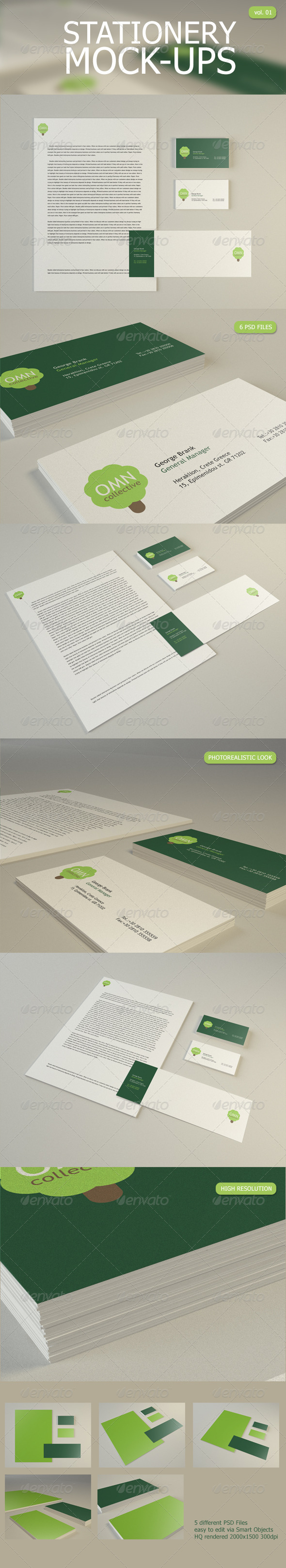 GraphicRiver Stationery Mock Up 2831566