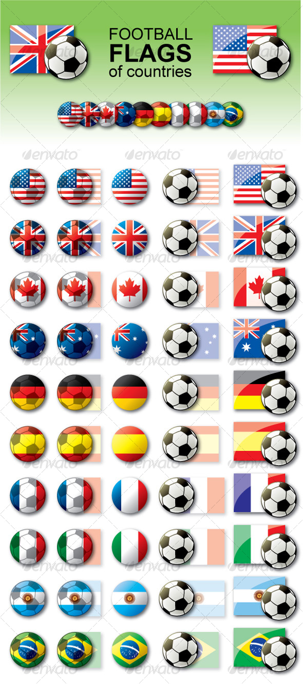 GraphicRiver Football flags 101951