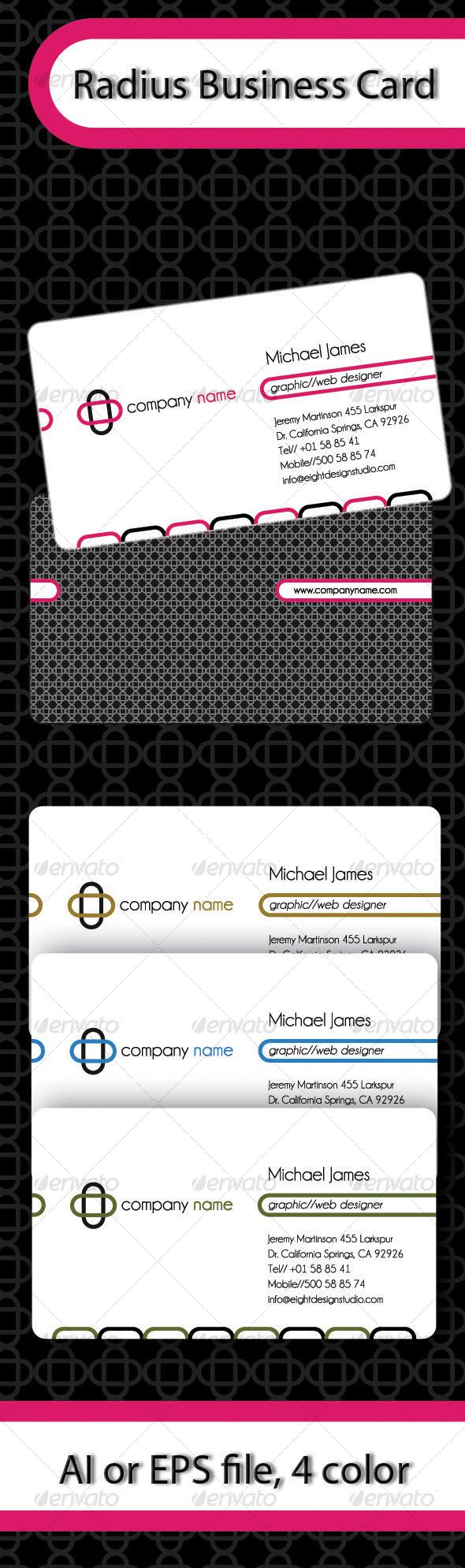 GraphicRiver Radius Business Card 102199