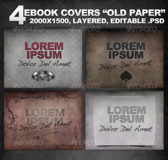 GraphicRiver 4 Layered eBook Covers Old Paper 102247
