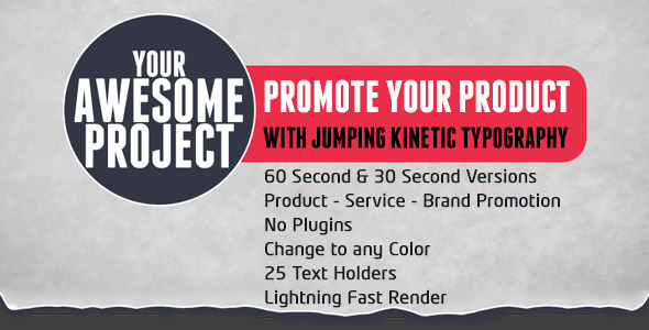 VideoHive Promote Your Product with Kinetic Typography 2846962