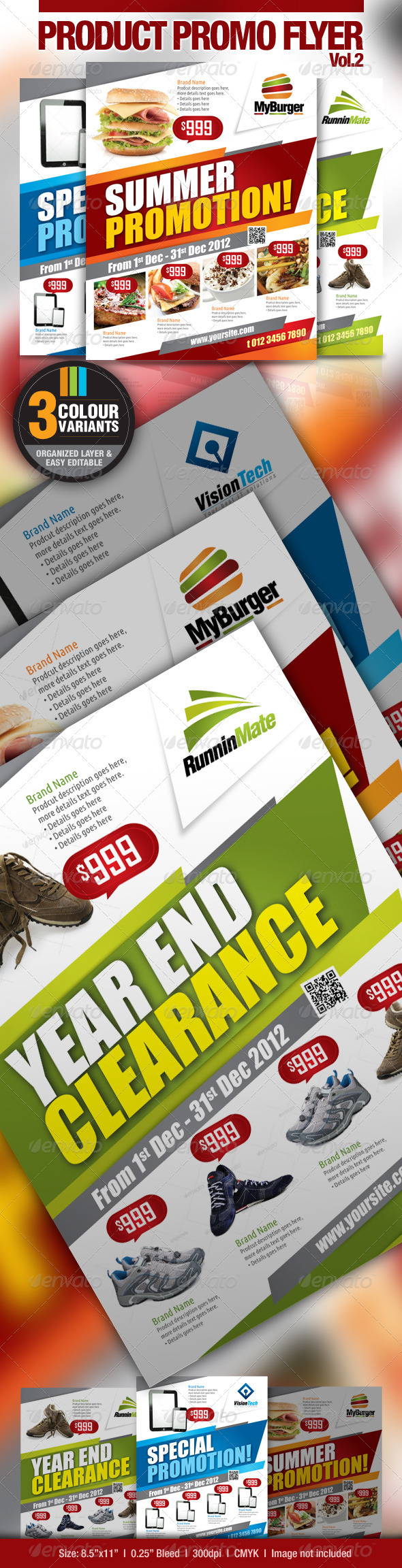 GraphicRiver Multi-Purpose Product Promotion Flyer 2596340