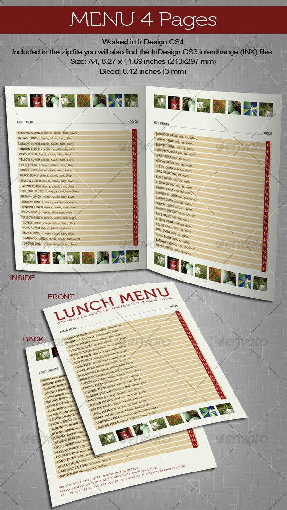 GraphicRiver Menu 4 Pages 102523