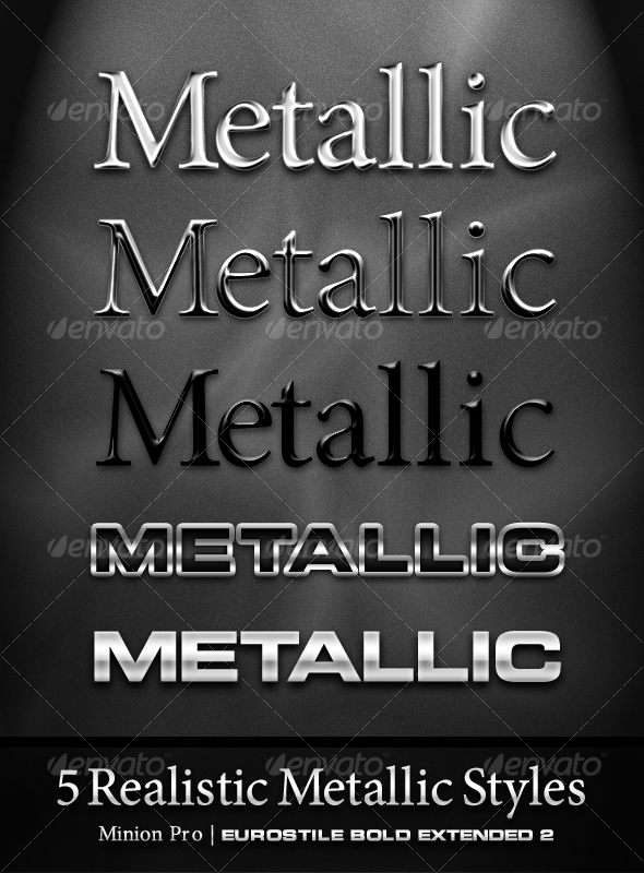 GraphicRiver 5 Realistic Metal Styles 102575