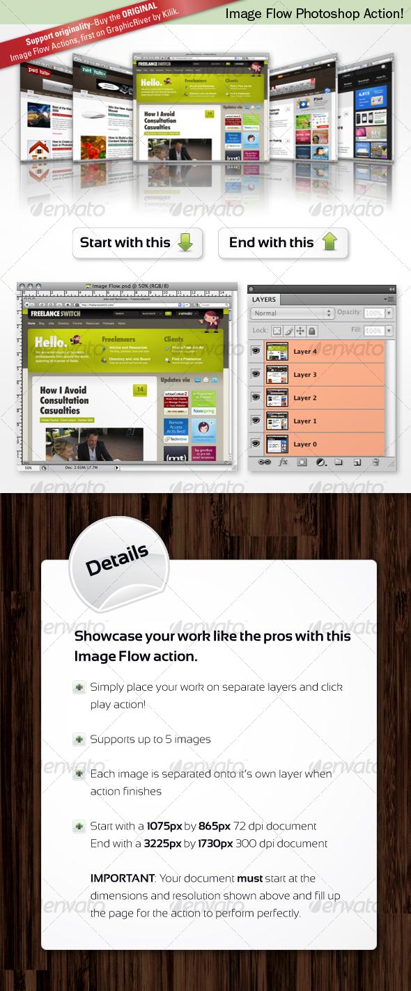 GraphicRiver Image Flow Photoshop Action 84847
