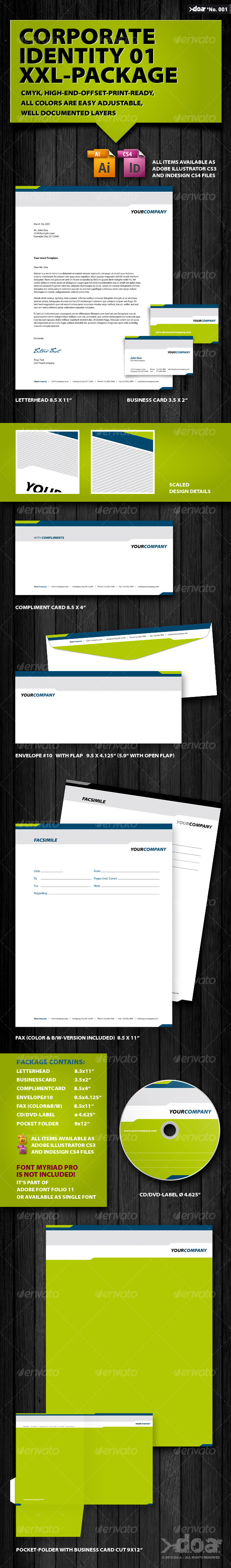 GraphicRiver Corporate Identity 01 XXL-Package 101427