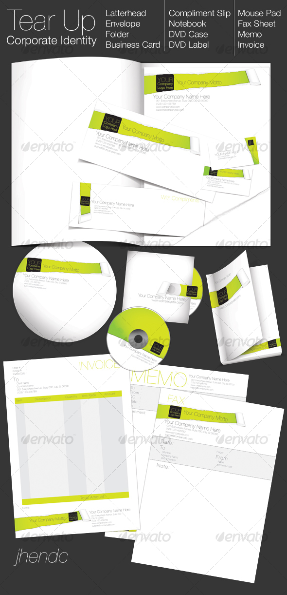 GraphicRiver TEAR UP Corporate Identity 95663