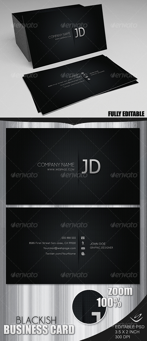 GraphicRiver Blackish Business Card 73556
